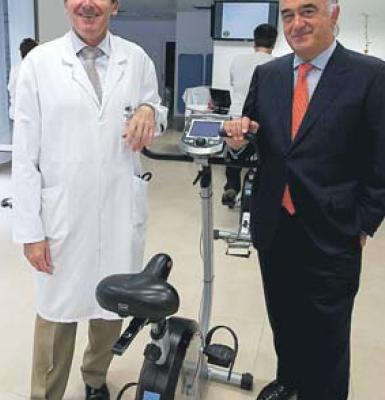 Los doctores Eduardo Alegría e Ignacio Gallo