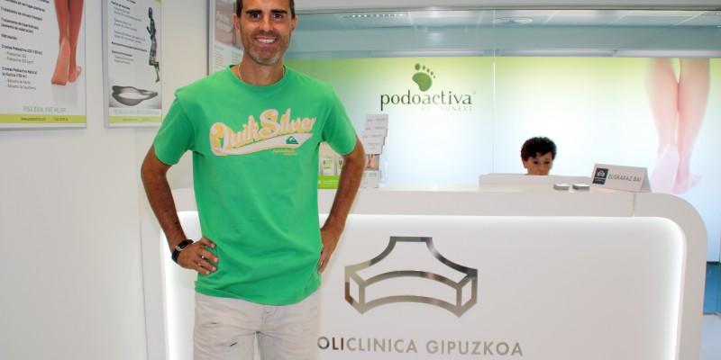 Gaizka Garitano, entrenador del Eibar, visita la Unidad del Pie