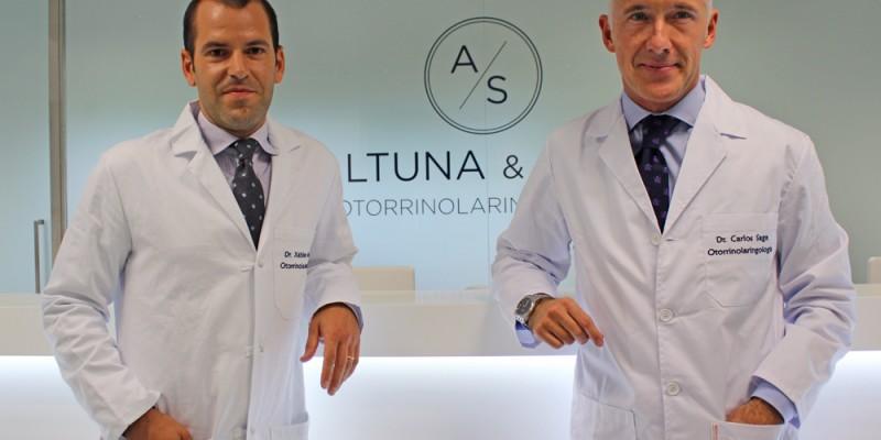 Los otorrinolaringólogos Xabier Altuna y Carlos Saga