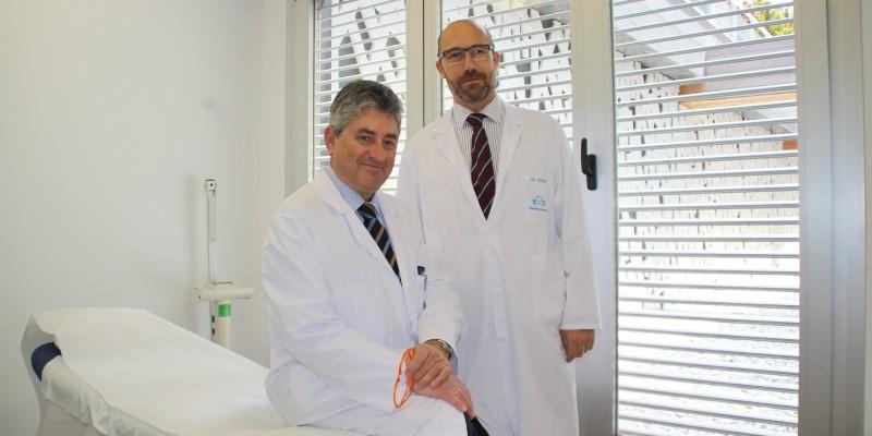 Los traumatólogos de Policlínica Gipuzkoa Ricardo Cuéllar y Juan Ponte y