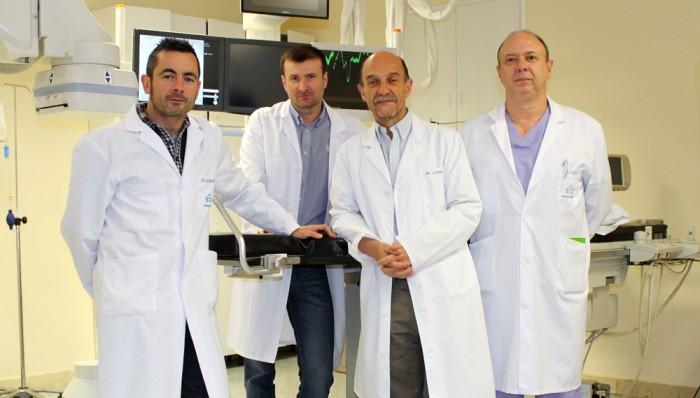 Equipo de hemodinámica de Policlínica Gipuzkoa
