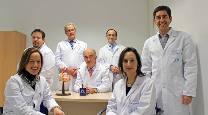 Equipo de cirugía cardiaca de Policlínica Gipuzkoa