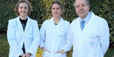 Los oftalmólogos de Policlínica Gipuzkoa , Mercedes Zabaleta, Cristina Irigoyen y Enrique Aramendía.