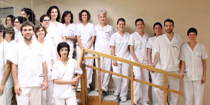 Equipo de fisioterapeutas de Policlínica Gipuzkoa
