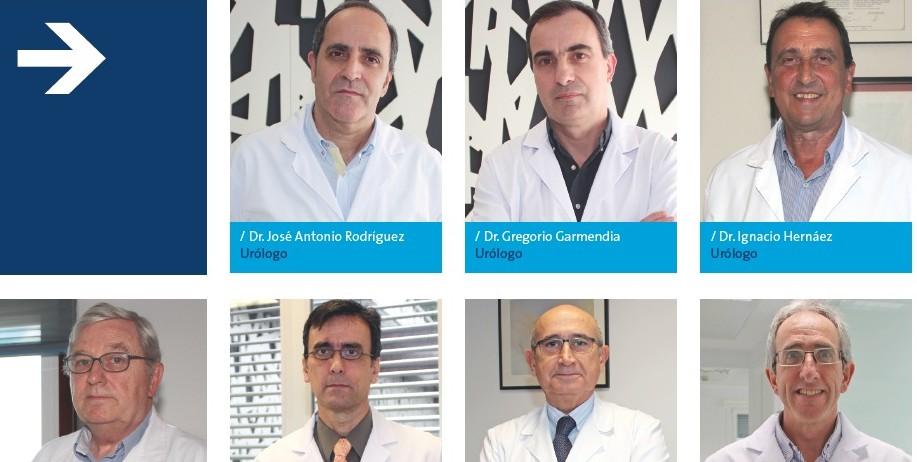 Equipo de urólogos de Policlínica Gipuzkoa