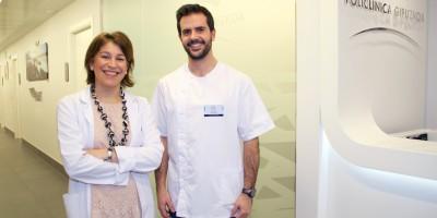Servicio de Rehabilitación Cardiaca en Eibar: la cardióloga Laura Quintas y el fisioterapeuta Javier Muñoz