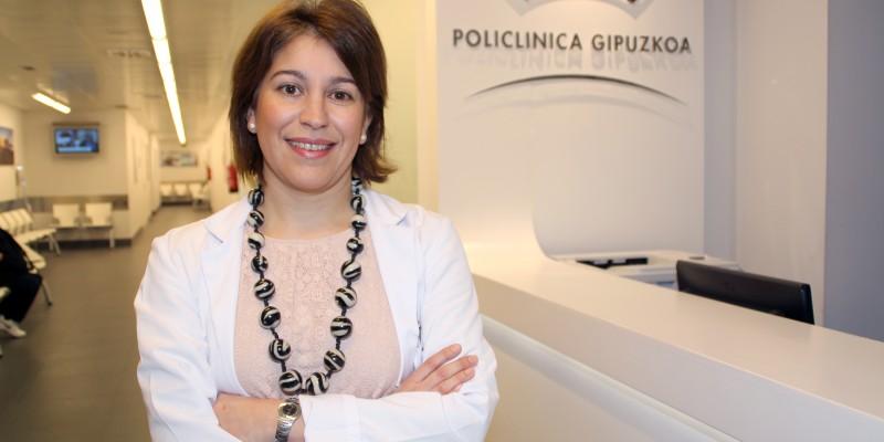 La cardióloga, Laura Quintas, del centro de consultas de Policlínica Gipuzkoa en Eibar