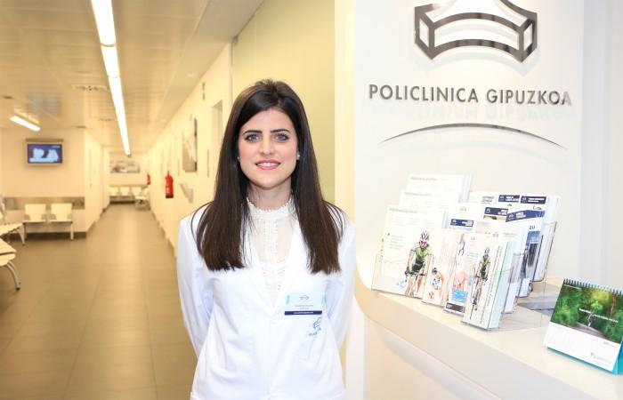 Guadalupe Izquierdo, podóloga de la Unidad del Pie de Eibar