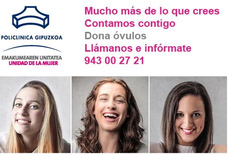 Campaña de donación óvulos en Policlínica Gipuzkoa