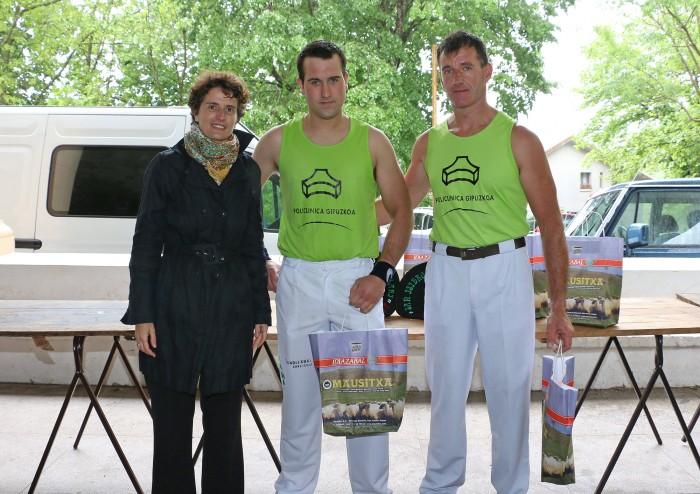 Larrañaga y Zubizarreta quedaron terceros en Torneo de Aizkolaris