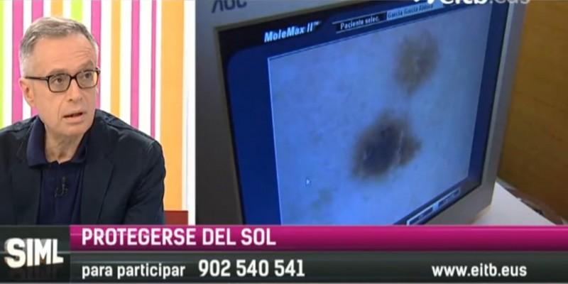 """Jorge Soto, dermatólogo de Policlínica Gipuzkoaen el programa de ETB2 """"Sin ir más lejos"""""""