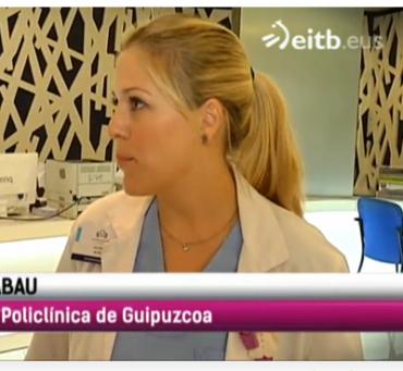 """La matrona, Jara Zabau, participa en el reportaje """"Dar el pecho en público, un derecho"""" emitido en el programa """"Sin ir más lejos"""" de ETB2"""