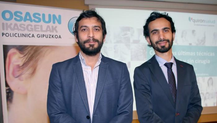 Dres. Israel Villena y Óscar Orozco, Aula de Salud Eibar.