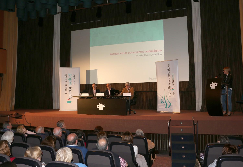 Más de un centenar de personas acudieron ayer al primer Aula de Salud de 2016 de Policlínica Gipuzkoa en San Sebastián.