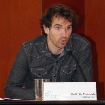 Garikoitz Etxebeste, fisioterapeuta y responsable de la Unidad de Biomecánica del Ciclista.