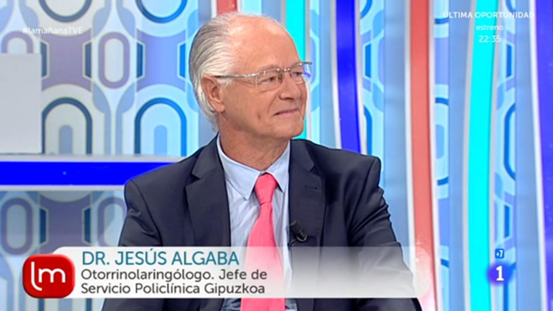 """El Dr. Jesús Algaba, del Servicio de Otorrinolaringología de Policlínica Gipuzkoa, explicó la diferencia entre mareo y vértigo en el programa de TVE1 """"La Mañana""""."""