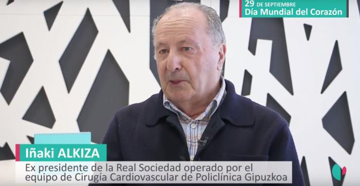 Iñaki Alkiza, expresidente de la Real Sociedad.
