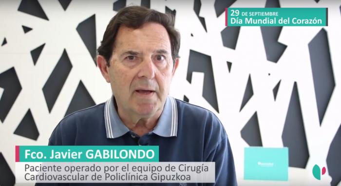 Javier Gabilondo, operado del corazón.