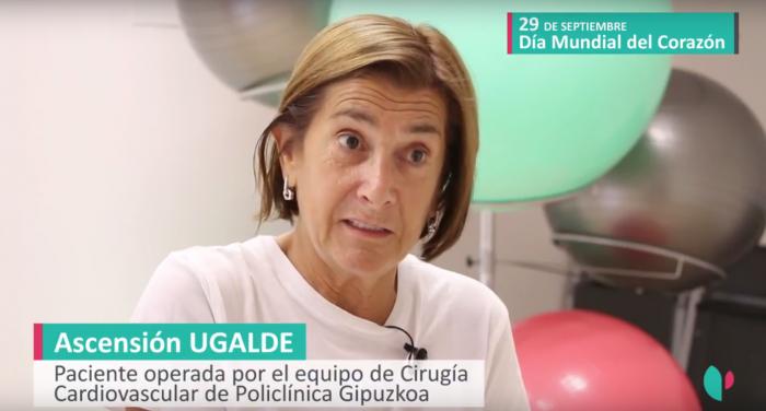 Ascensión Ugalde, operada del corazón.