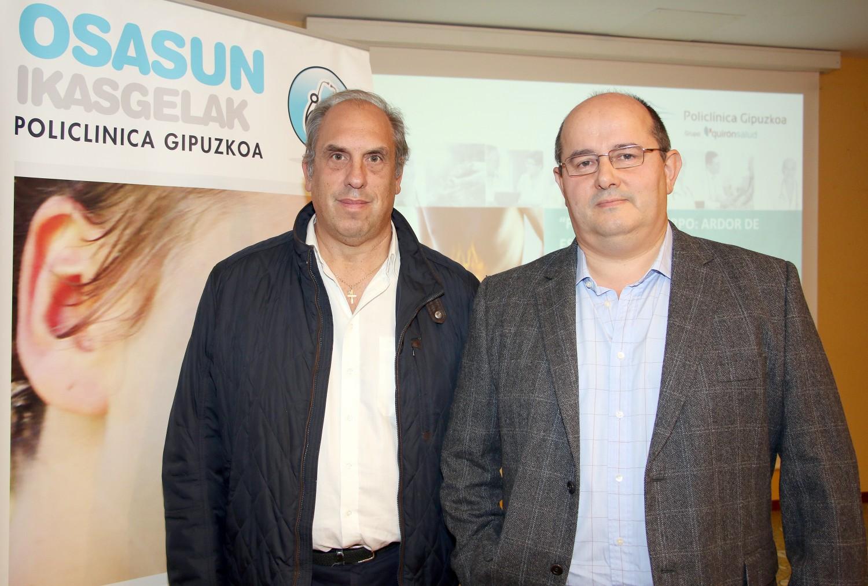 Los cirujanos generales y del aparato digestivo de Policlínica Gipuzkoa en Eibar, Javier Murgoitio y José Luis Elósegui, impartieron un Aula de Salud en la Casa de la Cultura de Portalea sobre el reflujo y el ardor de estómago.