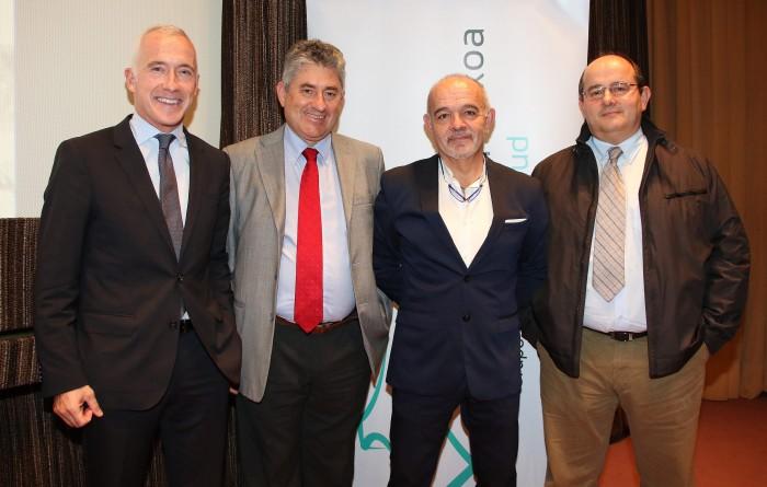 Carlos Saga, Ricardo Cuéllar, Toño Lara y José Luis Elósegui.