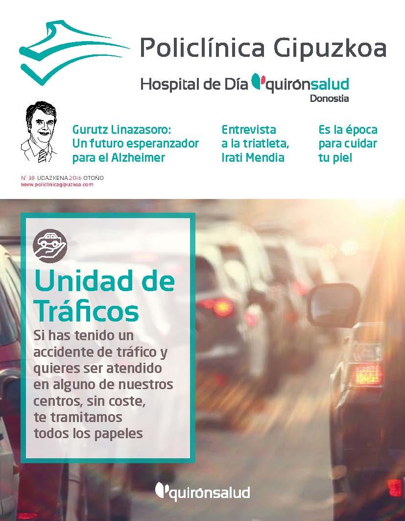 Portada Revista Quirónsalud Gipuzkoa Nº38.