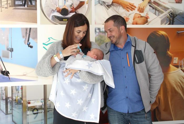 Edurne Pasaban, feliz tras el nacimiento de su primer hijo en Policlínica Gipuzkoa