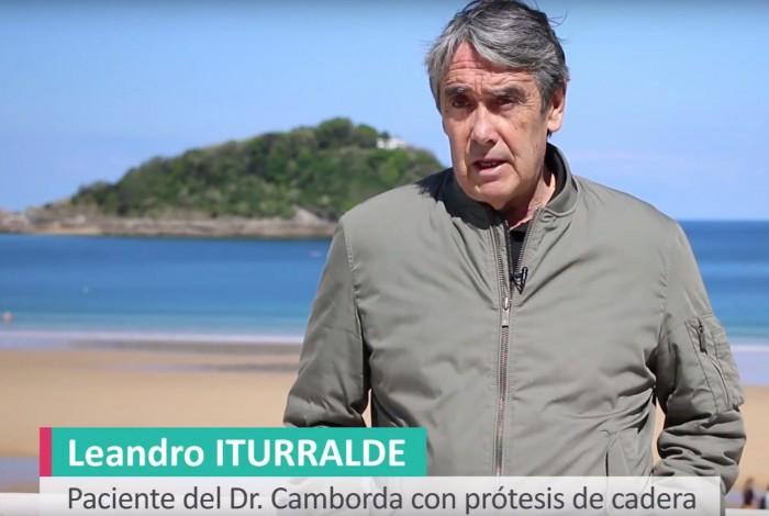 Leandro Iturralde, paciente operadode prótesis de las 2 caderas por el traumatólogo Juan Carlos Camborda