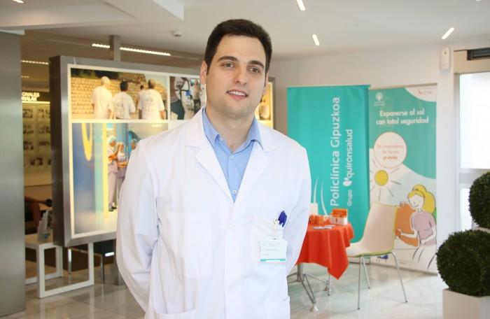 El dermatólogo de Policlínica Gipuzkoa, Aitor De Vicente.