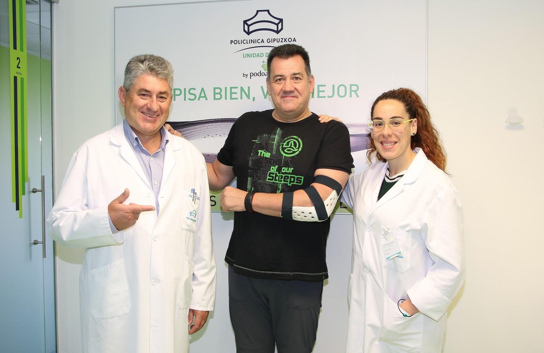 Manu Maritxalar tratado de una rotura del tendón del bíceps en Policlínica Gipuzkoa