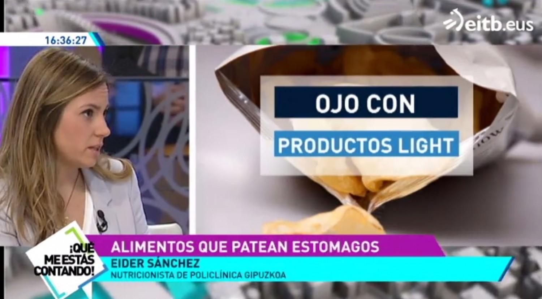 La nutricionista Eider Sánchez explica qué las alimentos pueden resultar pesados al estómago en ETB 2