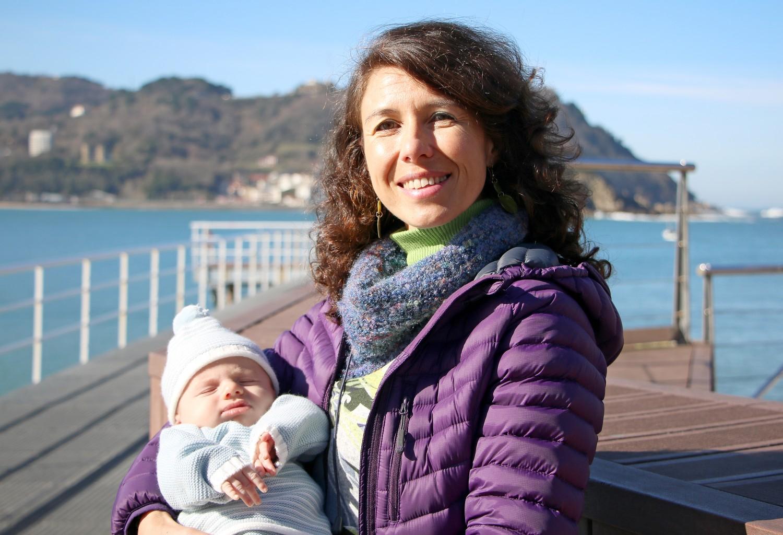 Eukene Sánchez madre en Policlínica Gipuzkoa