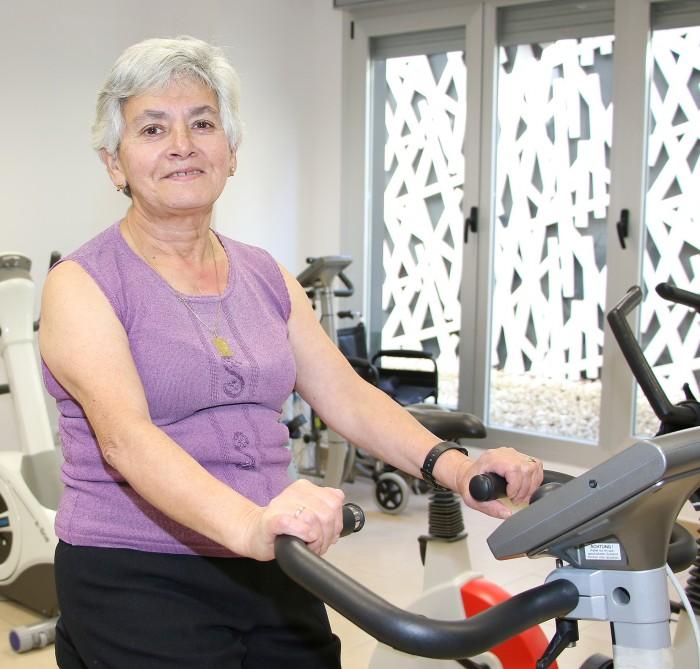 Casilda Calderón, paciente operada de corazón en Policlínica Gipuzkoa