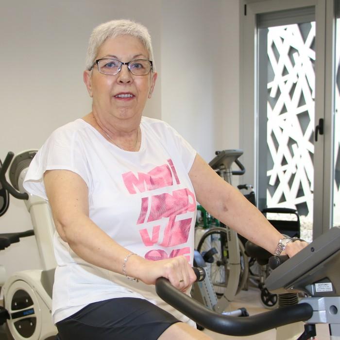 María Santas, paciente operada de cirugía de corazón en Policlínica Gipuzkoa