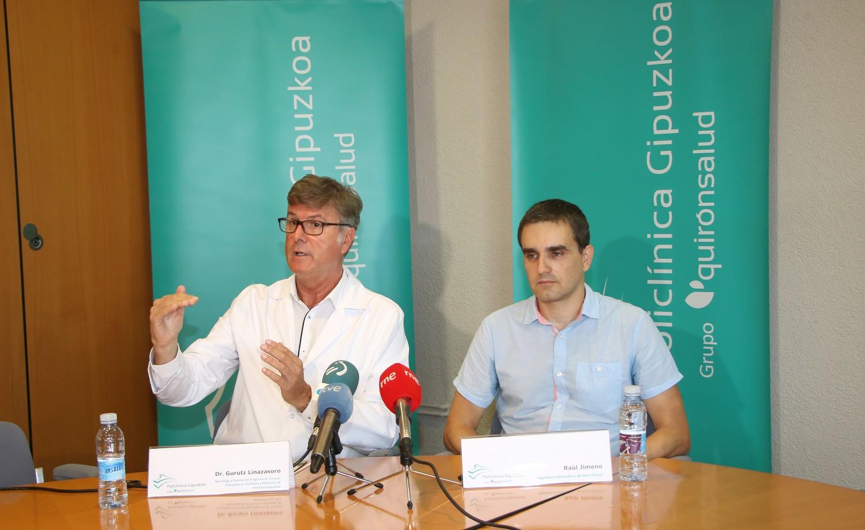 El neurólogo Gurutz Linazasoro y Raúl Jimeno, ingeniero informático de Bunt Planet