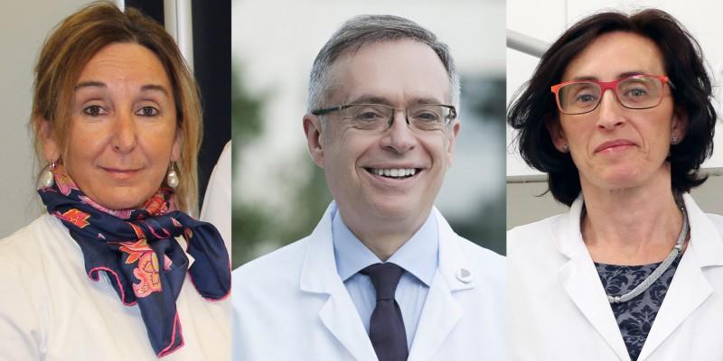 Dres. Cristina Garciandia, Jorge Soto y Ana González-Elósegui