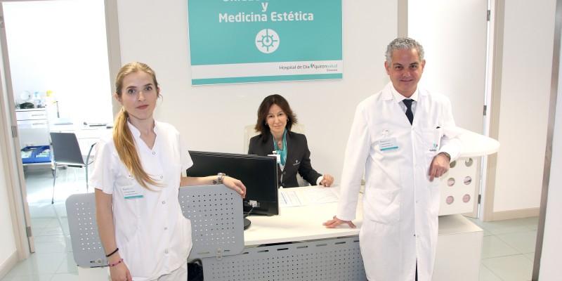 Equipo Unidad de Medicina Estética y Láser del Hospital de Día Quirónsalud Donostia 1